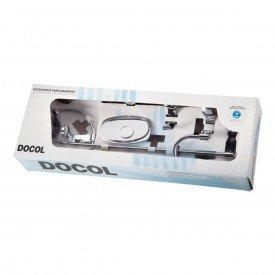 kit de acessorios docol malta 5 pecas 00438506