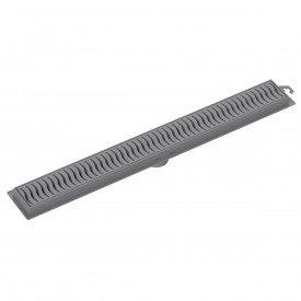 ralo linear tigre 50 cm cinza