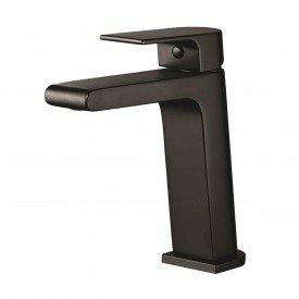 misturador monocomando para lavatorio de mesa lorenzetti loren like preto 2875 b78 1