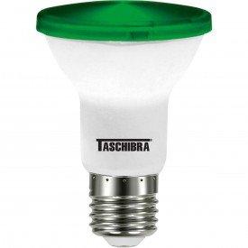 lampada led taschibra par 20 verde 6w bivolt e27 ip65