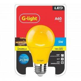 lampada led g light a60 amarela 5 w autovolt e27 dimensoes