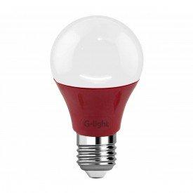 lampada led g light a60 vermelha 5 w autovolt e27