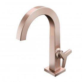 torneira lavatorio docol city cobre escovado 00876369