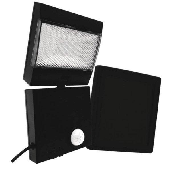 refletor led solar ecoforce com sensor luz branca 6 000k