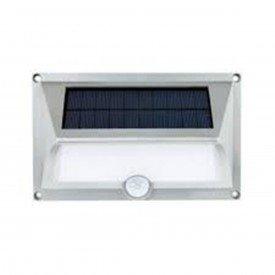 arandela led solar ecoforce com sensor luz amarela 3 000k