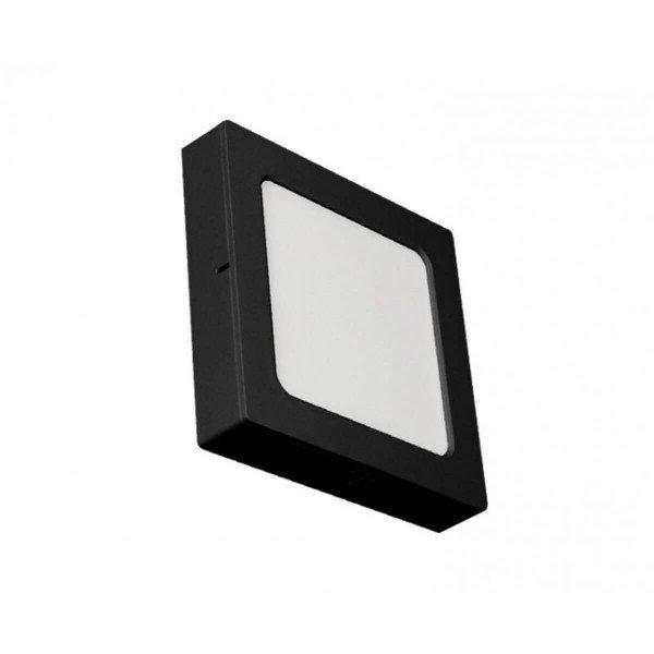 painel led quadrado embutir ou sobrepor ecoforce preto 24w luz branca