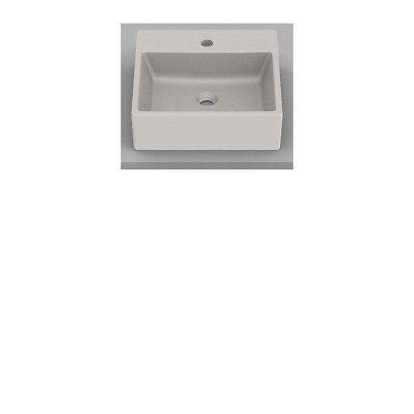 cuba de apoio roca optica 42 x 42 cm beige