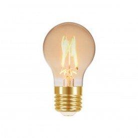 lampada led taschibra vintage a60 ambar 4 w autovolt e27