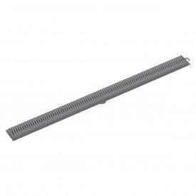 ralo linear tigre 90 cm cinza