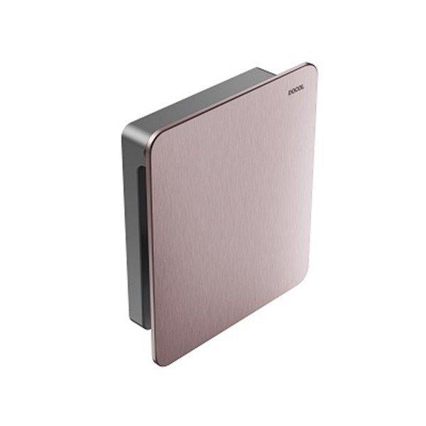 acabamento valvula descarga docol flat cobre escovado 00931769