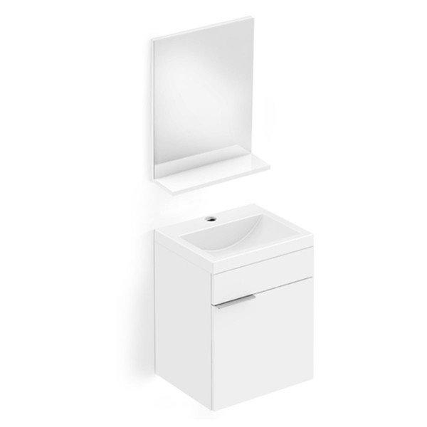 gabinete integrado espelho e prateleira incepa