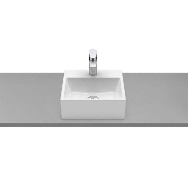 cuba de apoio com mesa roca optica 35 x 35 cm pq35