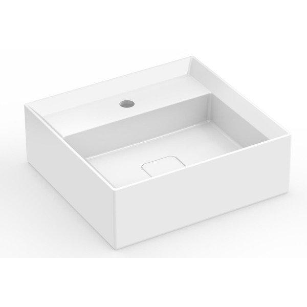 cuba de apoio com mesa incepa platinum 45 x 42 cm p6 branca