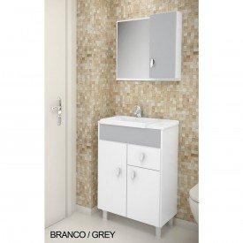 kit balcao tuon 55cm branco grey 2