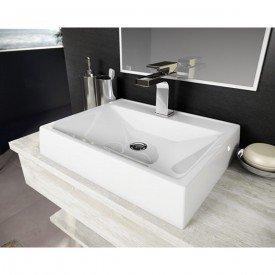 cuba de apoio com mesa lavatorio advance 50 cm branco