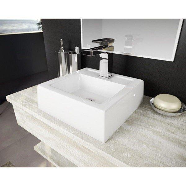 cuba de apoio com mesa lavatorio brescia branco