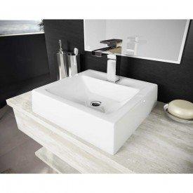 cuba de apoio com mesa print 40 cm branco