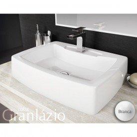 cuba de apoio com mesa lavatorio granlazio 50 cm branco 2