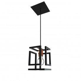 pendente orluce box 1xe27 or514 preto fosco bronze