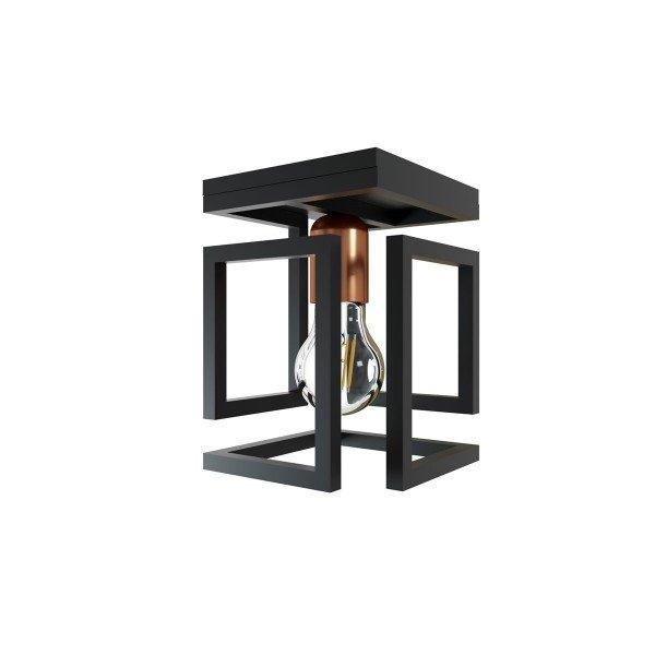 plafon orluce box 1xe27 or1092 preto fosco bronze