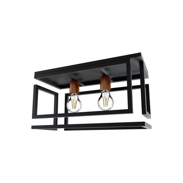 plafon orluce box 2xe27 or508 preto fosco bronze