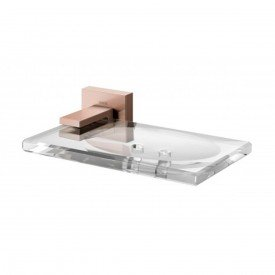 saboneteira docol square cobre escovado 00387969