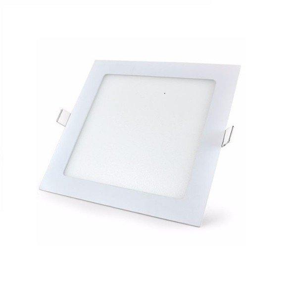 painel led quadrado embutir taschibra branco 3w luz branca