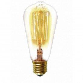 lampada filamento taschibra carbono st64 40w 220v e27