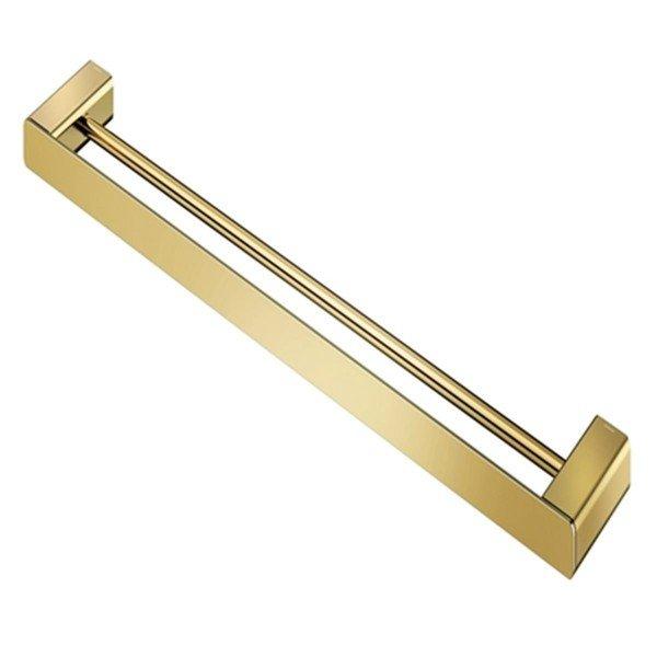 porta toalha bastao duplo docol flat ouro polido 01013743