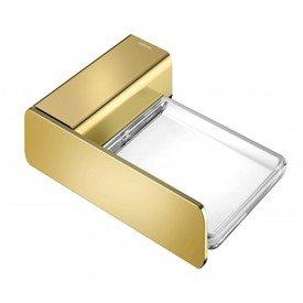 saboneteira docol flat ouro polido 01013843