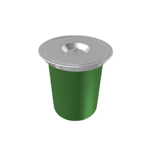 lixeira redonda inox sobrepor 12 litros franke
