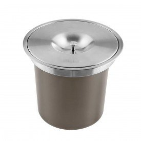lixeira redonda inox sobrepor 5 litros franke 1