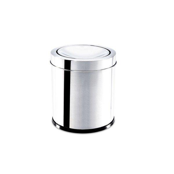 lixeira com tampa basculante inox decorline brinox 3 2l