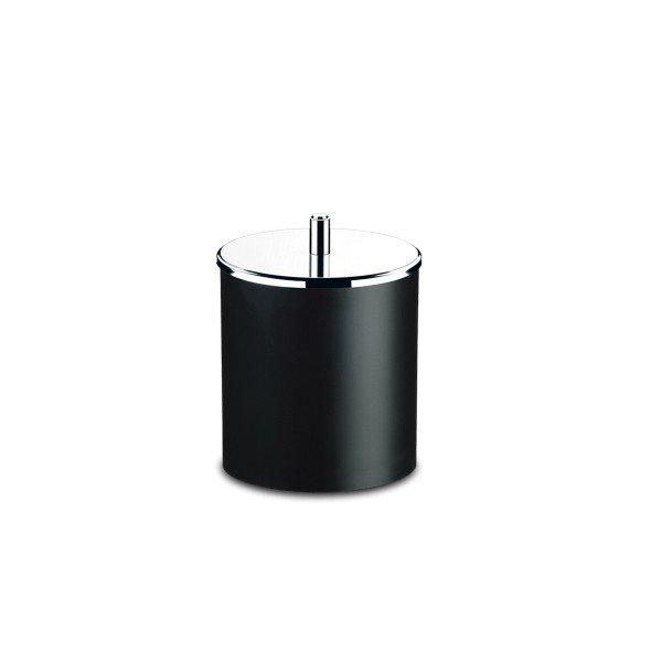 lixeira pp com tampa inox preto decorline brinox 5 4l