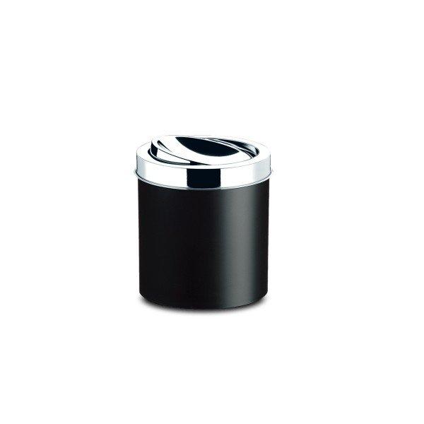 lixeira pp com tampa basculante inox preto decorline brinox 5 4l