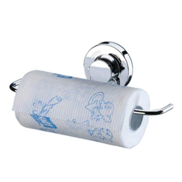 suporte para rolo papel toalha com ventosa praticita future 4006 cromado