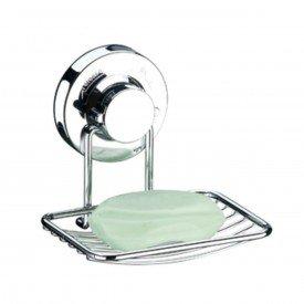 saboneteira com ventosa praticita future 4003 cromado