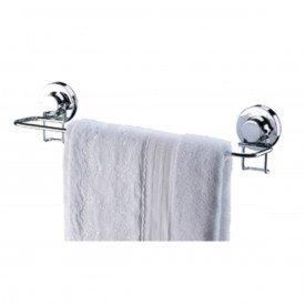 toalheiro barra com ventosa praticita future 4009 cromado