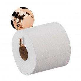 suporte para papel higienico com ventosa praticita utile future rose gold