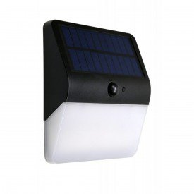 arandela led solar com sensor de movimento luz amarela 3 000k