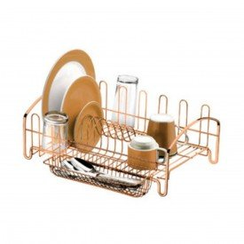 escorredor de loucas para cozinha attuale future 1605 rose gold 2