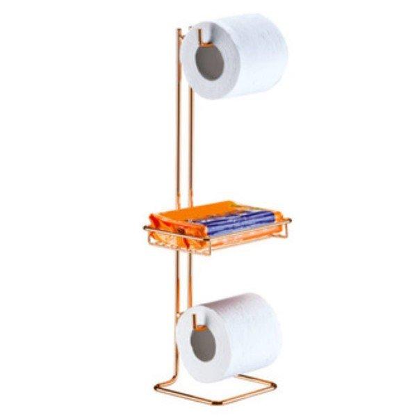 suporte papel higienico de chao com porta objeto superiore future 1182 rg
