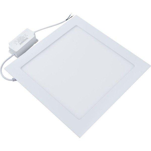 painel led quadrado embutir taschibra branco 6w luz branca