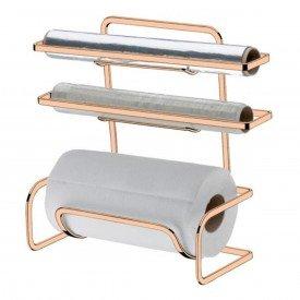 suporte para papel toalha aluminio pvc future 1405 rg