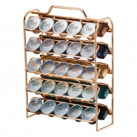 organizador 50 capsulas de cafe caffe future 1147 rose gold 3
