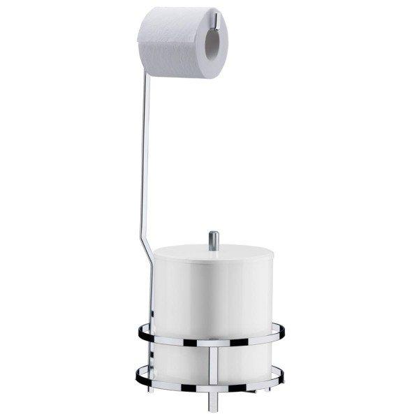 suporte para papel higienico lixeira perfezione future 1104 cromado