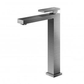 misturador monocomando lavatorio mesa bica alta docol new edge grafite escovado 00925470 2