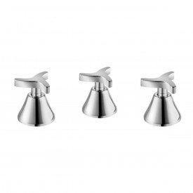 misturador bide lavatorio docol trio cromado 00502406
