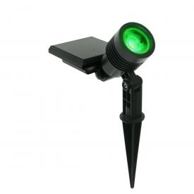 spot solar ecoforce abs luz verde 10 lumens