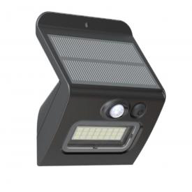 arandela led solar com sensor de movimento luz branca 6 000k